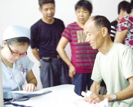 【图文】企业参保退休职工接受免费体检