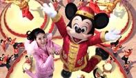 陈慧琳宣传迪斯尼 亲自为米老鼠设计贺年装图