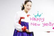 金喜善身着传统韩服 博客上送出新年祝福