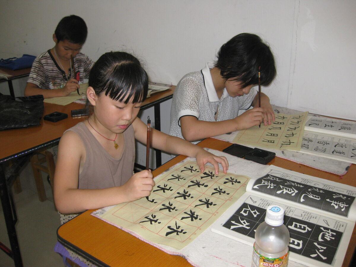 江东社区举办青少年书法培训-江东社区,青少年书法-江山新闻网