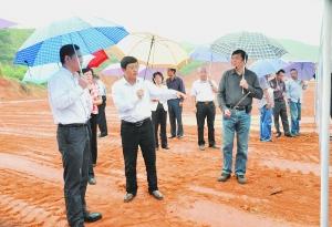 福建省松溪县四套班子代表团来庆考察图片