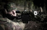 英国军队狙击手罕见训练照