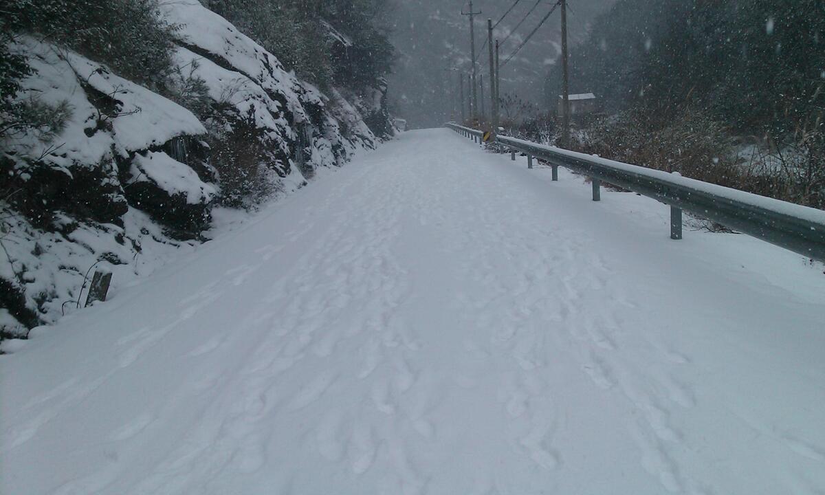 雅璜乡2013年的第一场雪