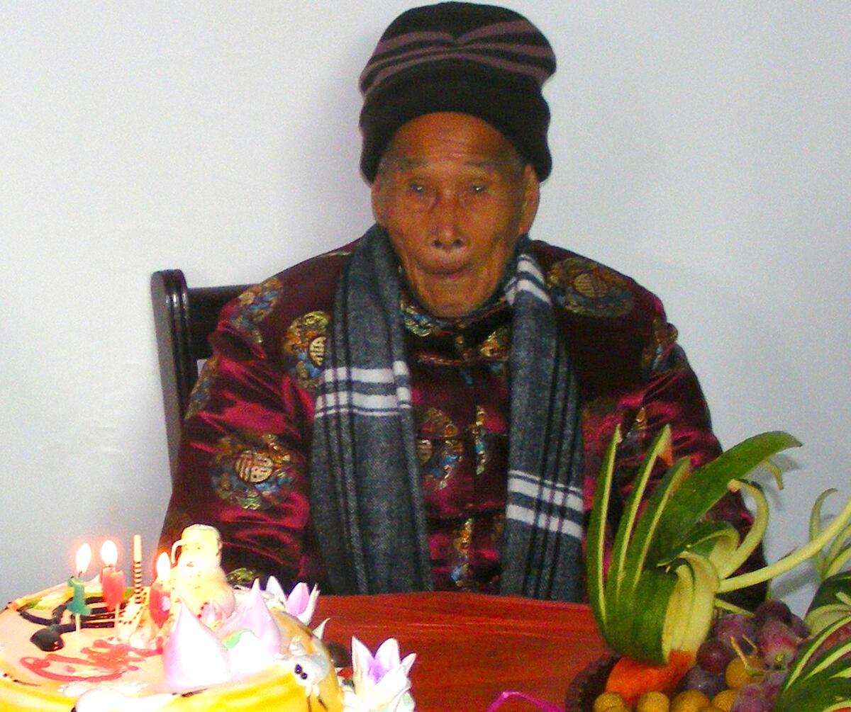 百岁老人过生日