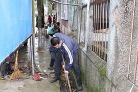 荷地镇开展环境卫生大扫除活动
