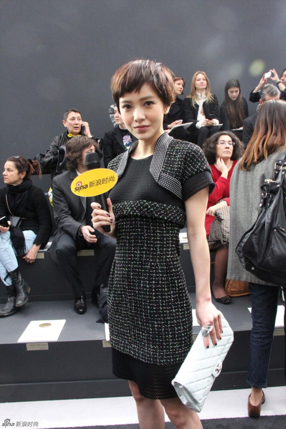 郭采洁/巴黎当地时间2013年3月5日,Chanel 2013秋冬发布秀举行,台湾...