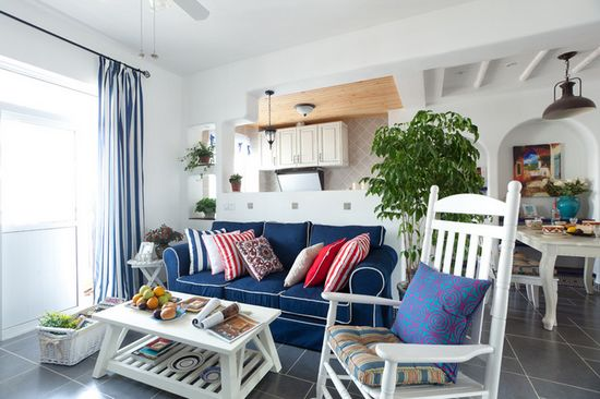地中海风格小复式住宅图片