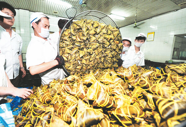 三珍斋粽子日产破十万