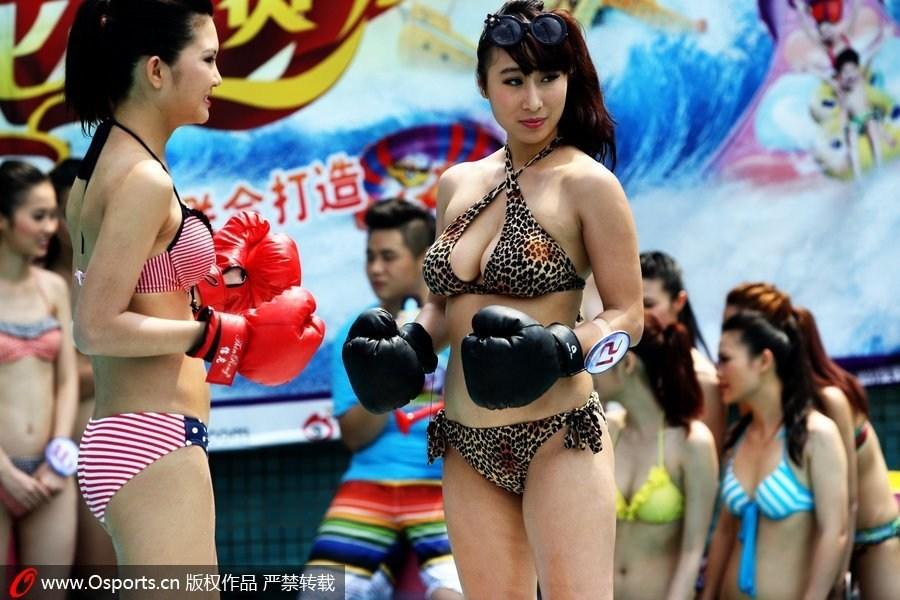 穿着比基尼能做什么?性感惹火的泳装运动 比基