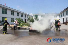 松源街道、万欣印业联合开展应急救援消防演练