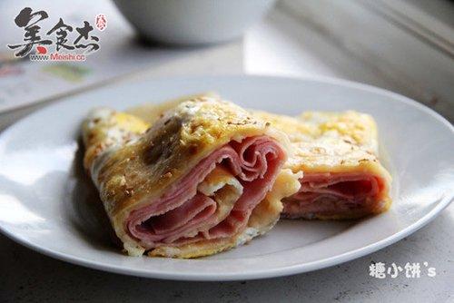 做一个火腿鸡蛋饼 营养好看的快手早餐饼