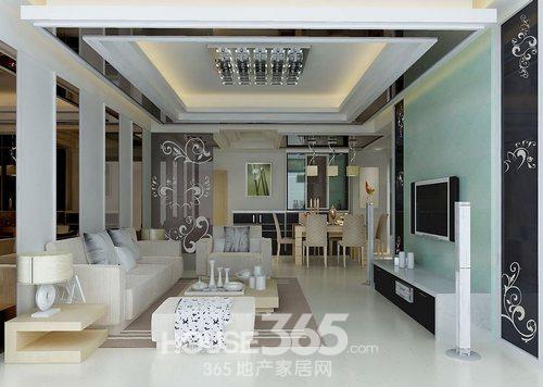 欧式客厅吊顶效果图 高端的华美家