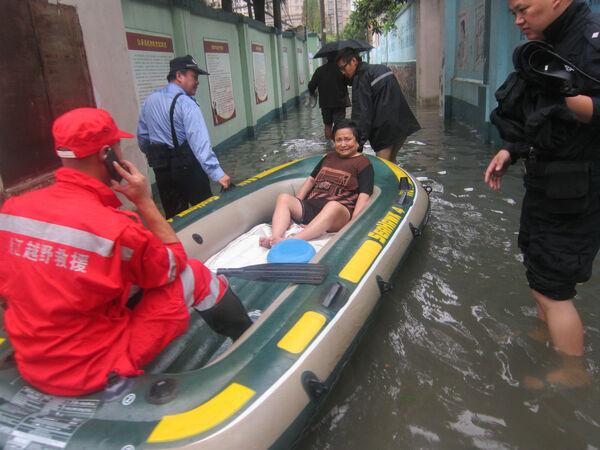 解救被困居民