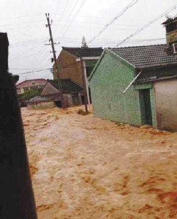 宁波余姚70 城区受淹水电供应困难 高清图片