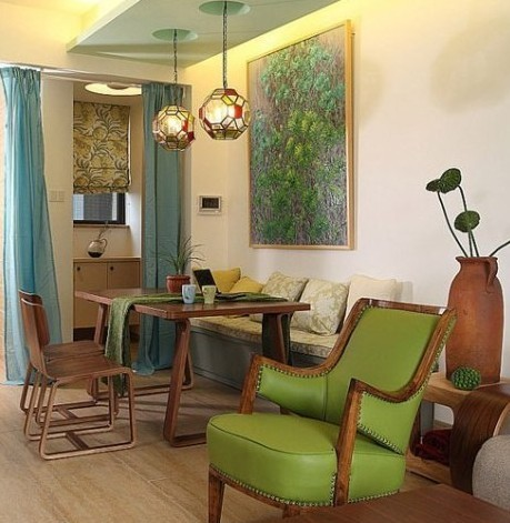 2013时尚家居装修图:餐厅的靠椅是亮点高清图片