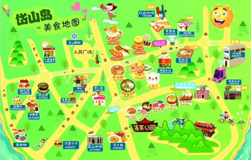 美食地图第一名_美食中国地图图片