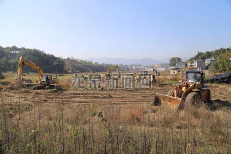 市低丘缓坡项目完成已征用土地清表近1000亩