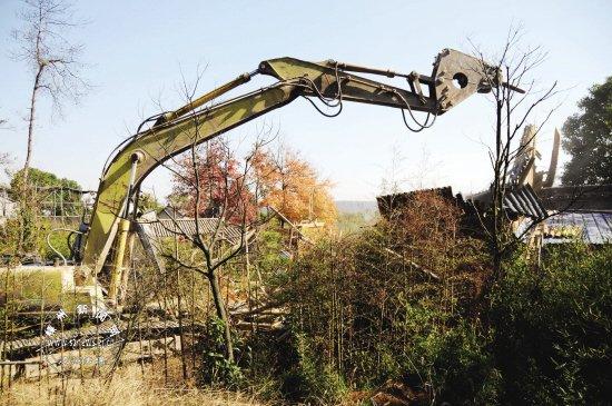 拆除后 上岛台地将建公园