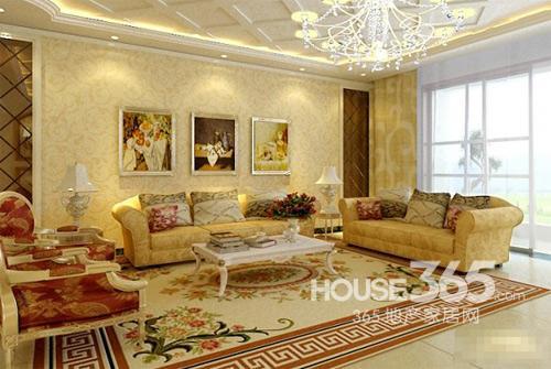 欧式客厅地砖效果图:清新自然的欧式家居高清图片