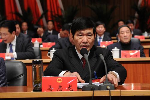 市人大常委会主任马志龙主持会议