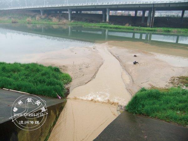 新昌江章村路段:厂区现轧砂场 废水直排新昌江