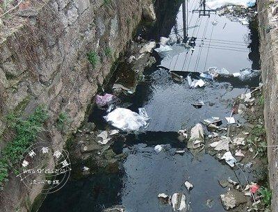 南山水库干渠下曹段 灌溉渠竟成黑水渠