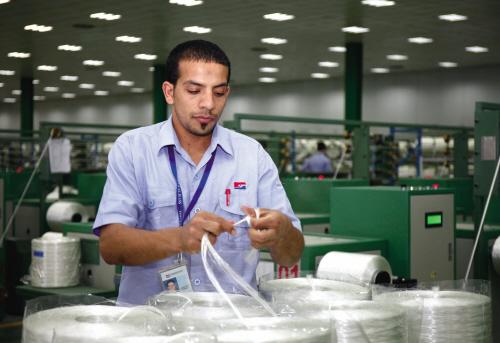 巨石埃及拉丝生产线试运行