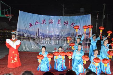龙渊街道在张村村举办文艺晚会