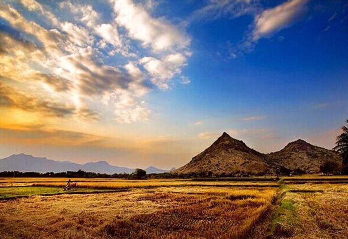 淳朴安静的印度乡村