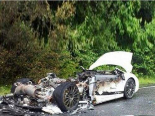 兰博基尼盖拉多英国自燃 原因不明高清图片