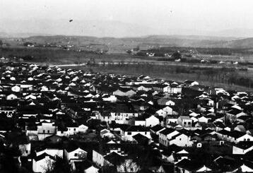 建国初期剡溪北岸城关镇旧貌