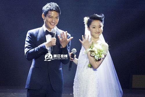 杭州王浩司仪工作室_周迅携群星杭州献声 现场公布婚讯计划明年生子--绍兴频道