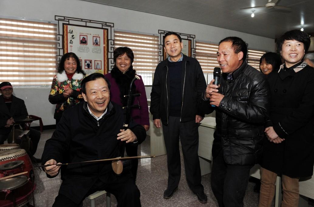 省委书记夏宝龙调研居家养老服务照料中心