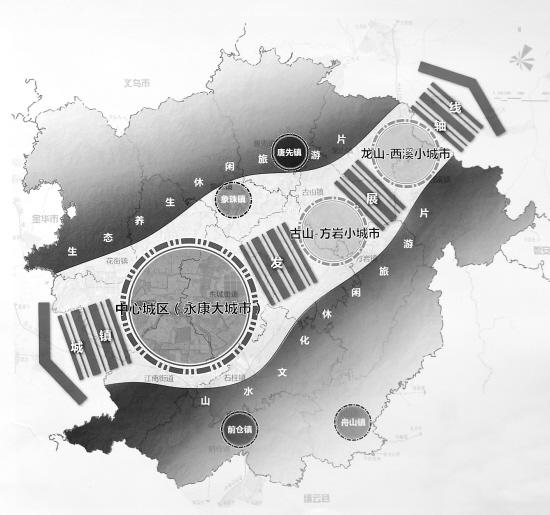 图为永康市城镇体系规划设计概念图.图片
