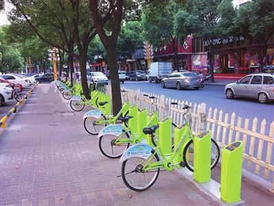74个站点 2700辆自行车