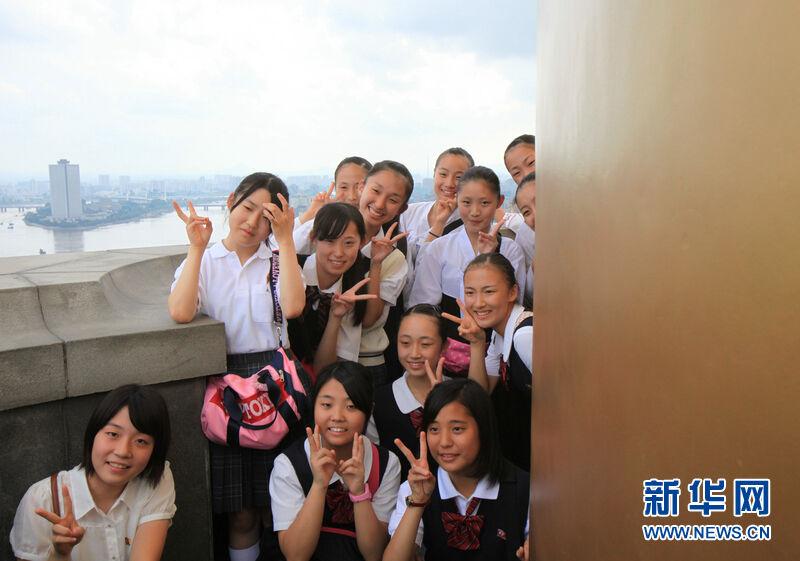 实拍朝鲜美丽的校园女生 朝鲜|美丽|新华社
