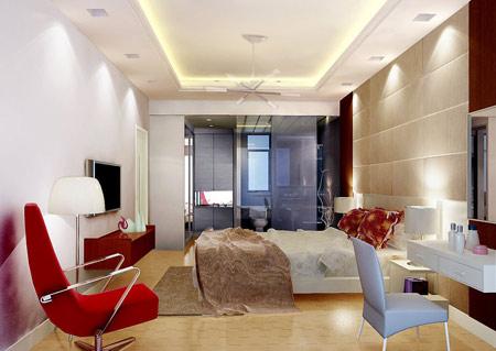 婚房卧室装修效果图:简约风格的主卧室装修-用爱布置新房 婚房装修