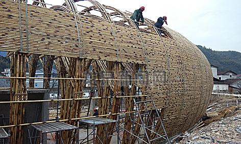 宝溪乡溪头村竹建筑群已经初具雏形