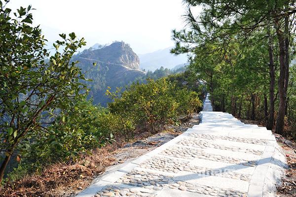 白云山公园游步道图片