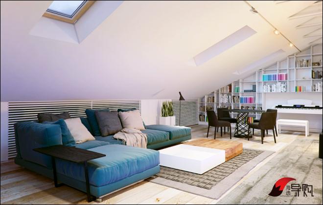 购买地:顾家家居旗舰店-让家居瞬间降温 3款蓝色家具单品推荐图片
