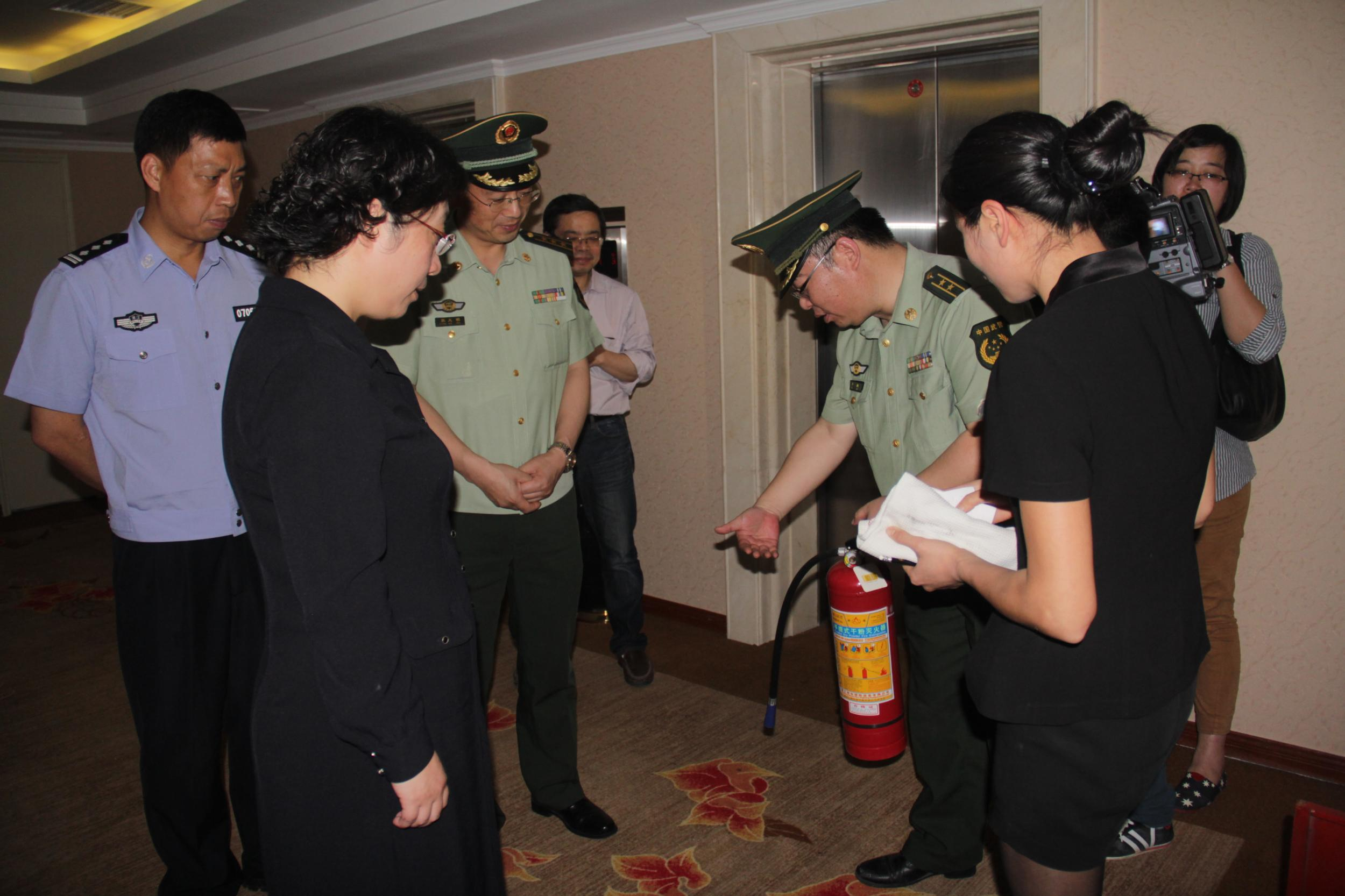 消防检查进酒店