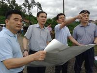 市委书记、市长孙哲君到三界镇指导抗灾救灾工作