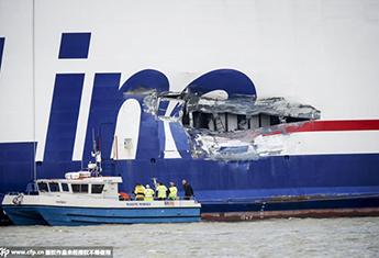 瑞典一艘客轮与油轮相撞