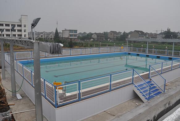 新埭鎮拆裝式游泳池建造完工圖片