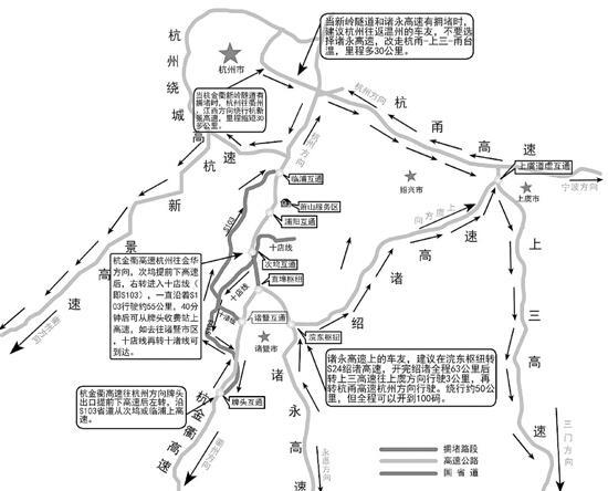 中秋+国庆全省高速6个路段最堵 绕行攻略大揭秘