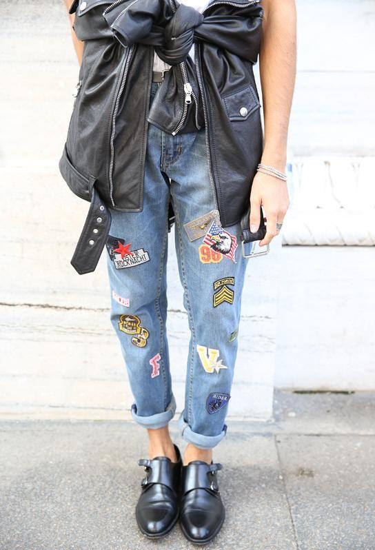 今天穿什么 破洞牛仔Out 补丁牛仔裤才最时髦