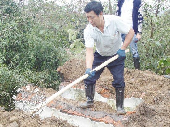 长乐镇拆除34穴违建坟墓