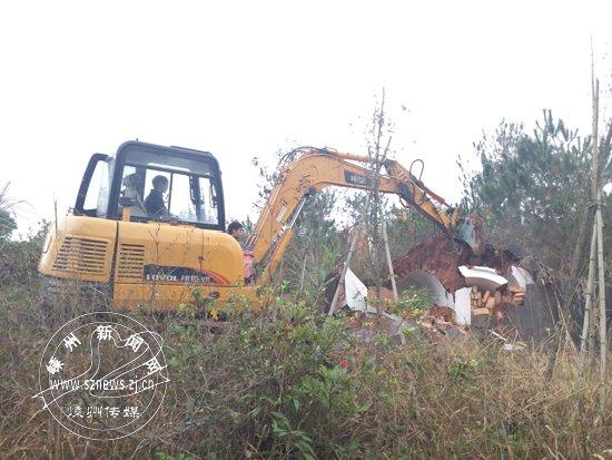 石璜镇已拆除400多穴空穴