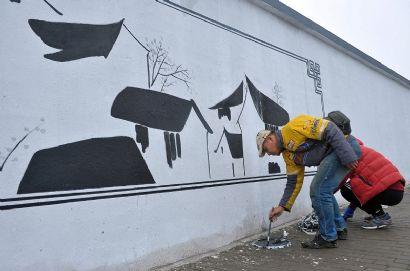 水乡文化上墙