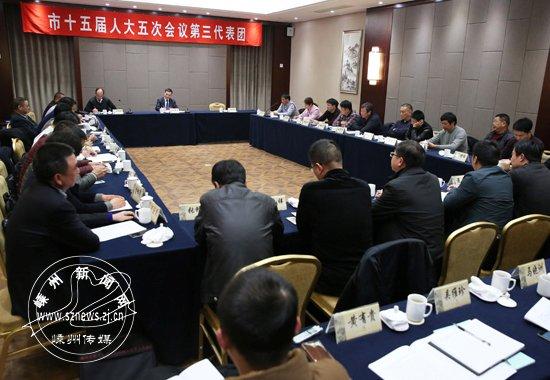 孙哲君参加人大第三代表团审议和政协工商界讨论